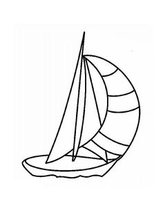 Sailboat Coloring Page Clipart Image: Clip art