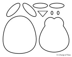 Penguin feet pattern. Use the printable outline for crafts
