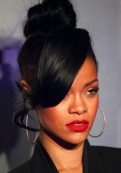 High Bun Hairstyles For Black Women Bun Hairstyles With Bangs 12