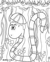 Worms, Coloring pages and Printable coloring pages on