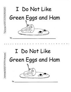 Green Eggs and Ham Coloring Page from TwistyNoodle.com