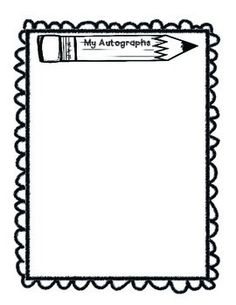 Autograph Clip Art for Yearbooks