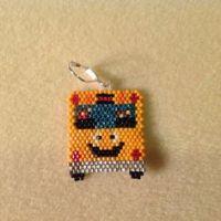 YELLOW SCHOOL BUS MINIATURE TRINKET BOX | Beaded Miniature ...