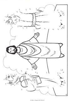 Knutselwerk: de verheerlijking op de berg. Jezus met Mozes