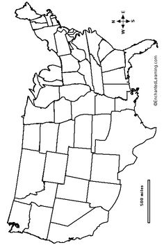 Us map, Maps and Coloring pages on Pinterest