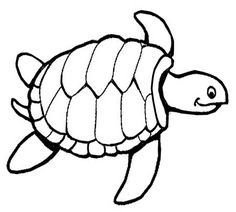 Sea turtle pattern. Use the printable outline for crafts
