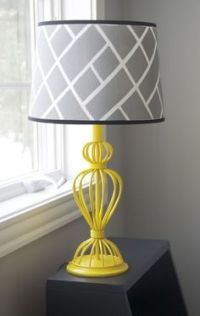 Yellow Lamp Shades on Pinterest | Painted Lamp Shades ...