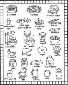 1000+ images about Printable breakfast foods on Pinterest
