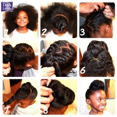 Little Girl Hairstyle Cornrows Protective Hairstyle