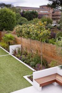 Small, shallow, contemporary garden design in Bracknell ...