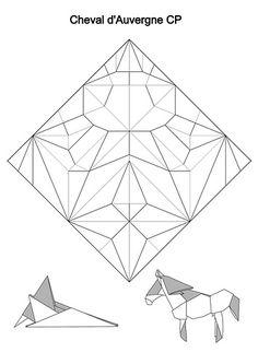 Square Interlace Tessellation — crease pattern and basic