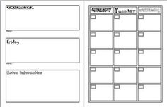 2-Page Monthly Planner-http://www.vertex42.com/calendars