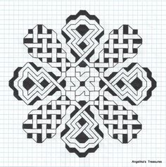 Celtic Graph Paper Heart by ~tattoofuzzy on deviantART