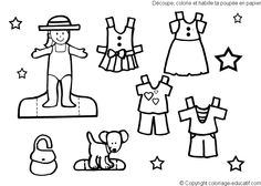 1000+ images about Color Your Own Paperdolls on Pinterest