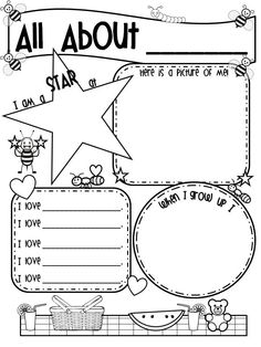 All About Me Activities. All About Me theme. This will be