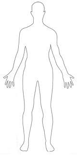 Menselijk lichaam tekenen. Ook moesten de kinderen namen