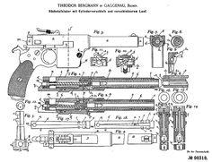 Gatling Guns, Technical Drawings, Gun Patent, Gatling