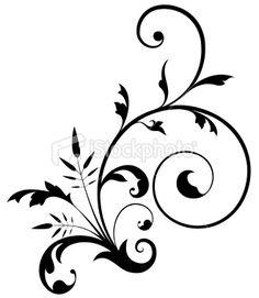 simple swirl design flower