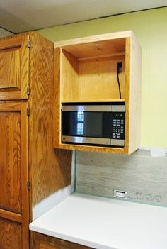 Hang An Over The Range Microwave Without An Overhead Cabinet Check It Pinterest Stove