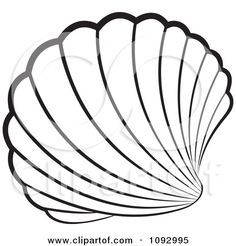 Printable Seashell Coloring Pages For Kids Trend Free For