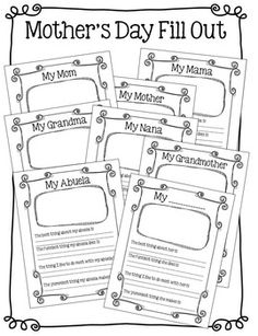 Mother's Day Questionnaire {A FREE Printable for the Kids