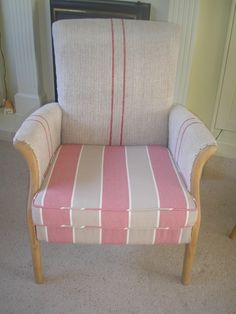 A lovely old Parker Knoll back wing chair and sprung