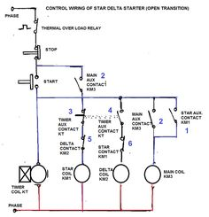 Three Phase Motor Connection STAR/DELTA Without Timer