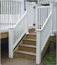 outdoor stair railing | Vinyl PVC Railing Installation ...