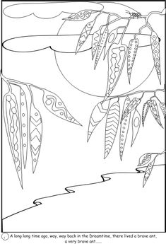 Emu pattern. Use the printable outline for crafts