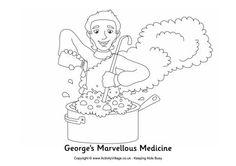'George's Marvellous Medicine' Grandma display with