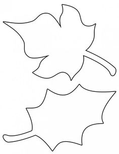 Maple Leaf Template. Lots of Ideas: relief paint a table