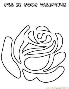 Free Stencils, can be used as a coloring page #rose #