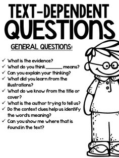 1000+ ideas about Text Dependent Questions on Pinterest