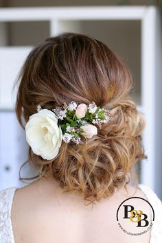 fresh flower hair accent wedding accessory wedding fashion pinterest updo my hair and