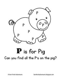 A coloring page and letter identification worksheet to