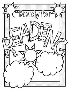 I Love My Library Coloring Page from TwistyNoodle.com