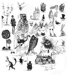 Alice in wonderland drawings, Chris d'elia and Alice in