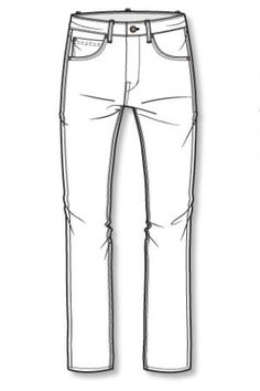 1000+ images about Jeans and Trousers Line Drawings on