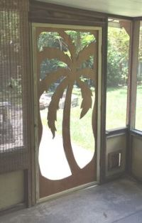 Wrought iron, Security screen doors and Security screen on ...