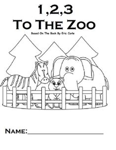 free printable for 1,2,3 to the zoo plus a cute idea for a