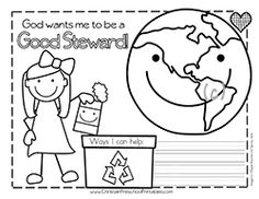 This is a free Earth Day writing and coloring page and a