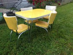 1950 s yellow formica table and chairs most comfortable computer chair 1000+ images about chrome kitchen dinette on pinterest | sets, ...