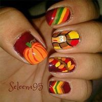 1000+ images about Thanksgiving/fall nail art on Pinterest ...