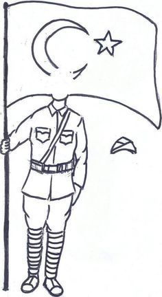 Soldier pattern. Use the printable outline for crafts