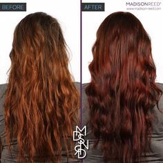 before and after madison reed dark brown hairs