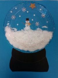 The Snow Globe Family- door decorating competition. We ...