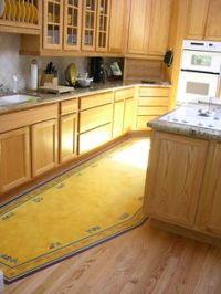 Custom painted vinyl floor mats - the artist uses the ...
