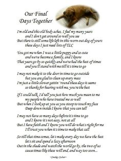 Old dogs, Dog poems and Miss you on Pinterest