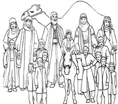 Jacob's Family Coloring Page