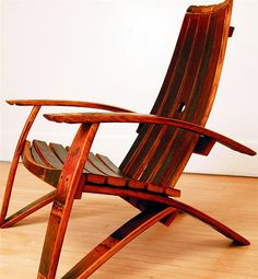 barrel stave adirondack chair plans drive fly weight transport parts wine rocking   for the home pinterest chairs, crafts and chairs